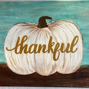 Pillow Cover-New-  Christian Thankful Fall Pumpkin